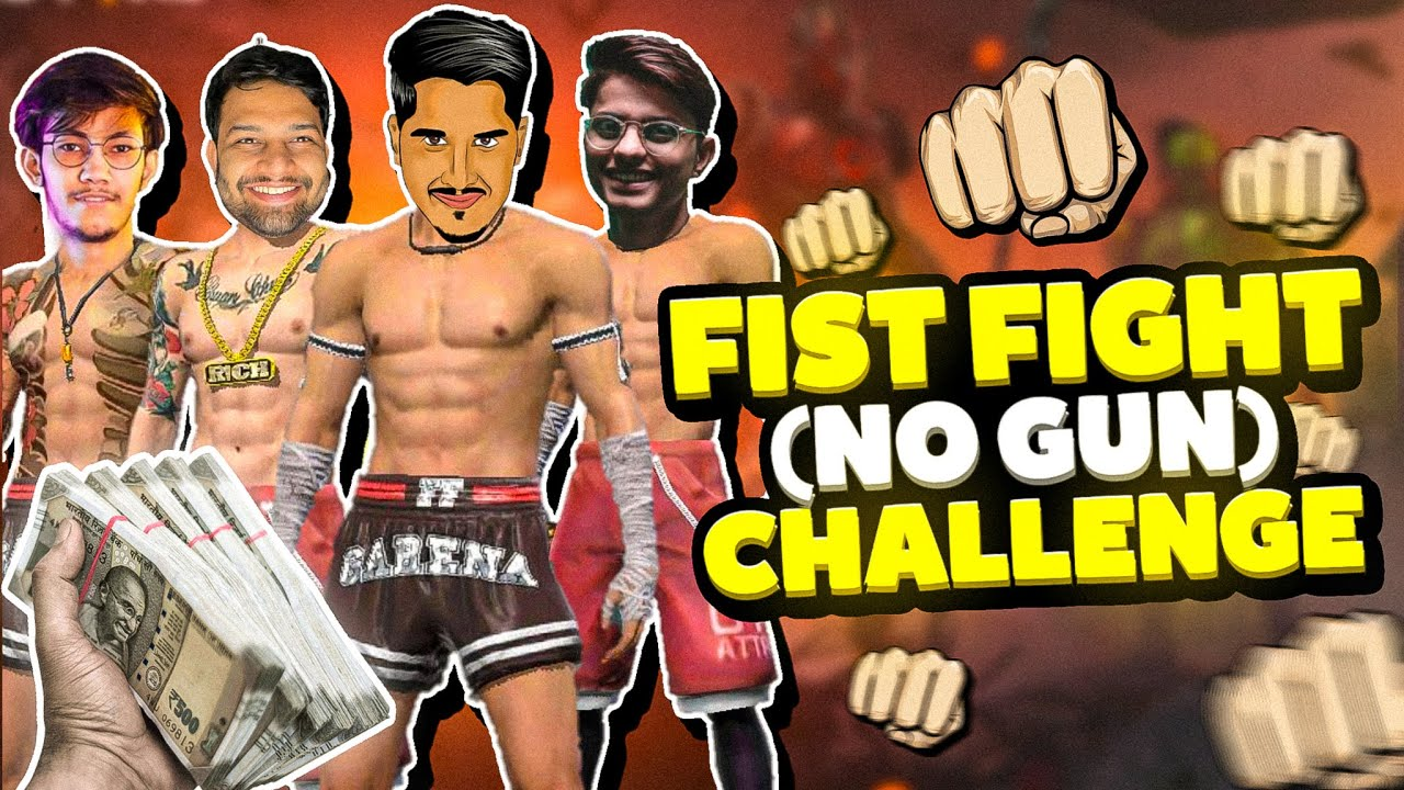 Only Fist Challenge With Jonty, Xmania And Pahadi in Free Fire || Desi Gamers