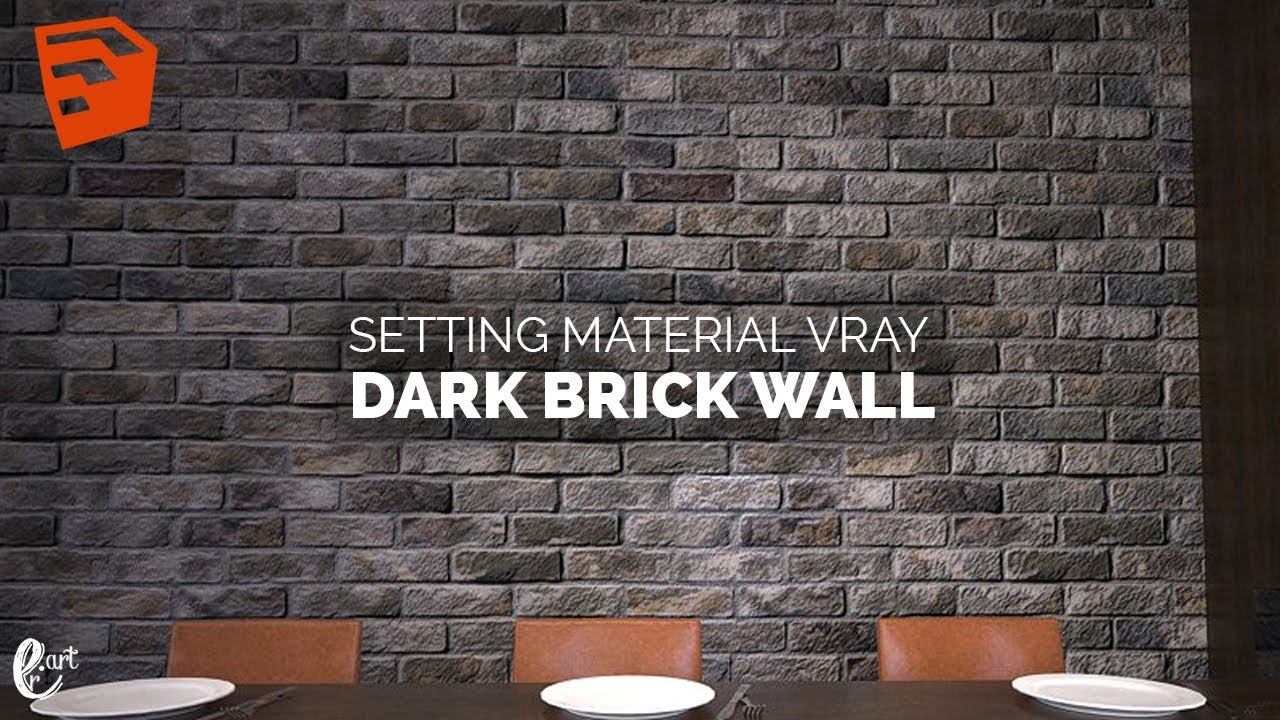 Tutorial Vray Sketchup Setting Material Brick Wall ...