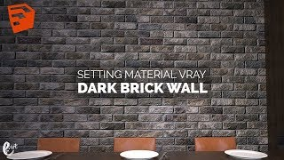 Tutorial Vray Sketchup Setting Material Brick Wall Tutorial Photoshop Youtube