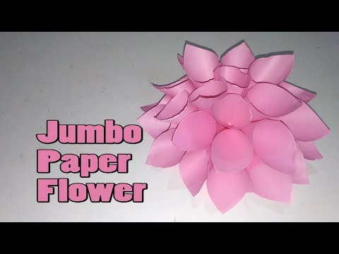 How to make a Jumbo Paper Flower || Paper Flower || Paper Crafts || Origami Easy