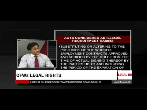Legal Help Desk Episode 114: OFWs Legal Rights