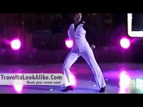 John Travolta look alike busts out Saturday Night Fever dance moves