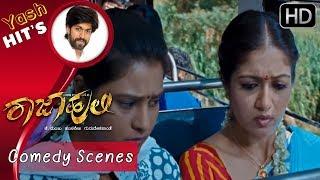 Yen Hello Yaariga Karita idiya   Yash   Chikkanna   Kannada Comedy Scenes   Rajahuli Movie