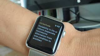 Gambar cover Apple Watch で英単語