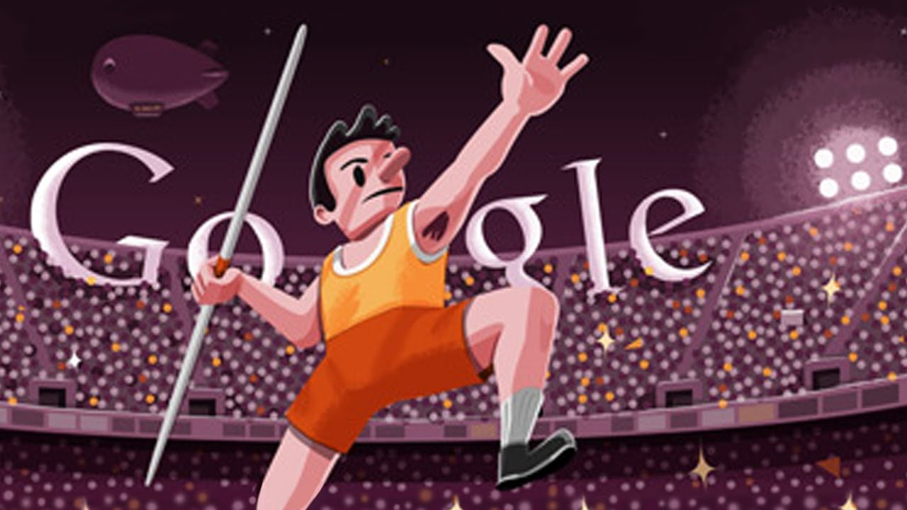 London 2012 Javelin Google Doodle Youtube