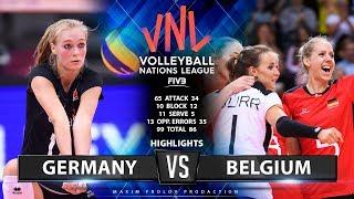 Germany Vs Belgium | Highlights | Women's VNL 2019