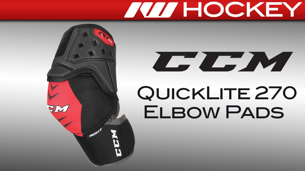 7caf3d2d225 CCM QuickLite QLT 270 Hockey Elbow Pads Review - YouTube