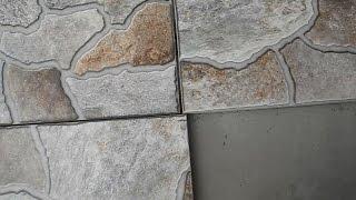 Способ укладки плитки,когда разница в размерах от 0,5 и до 1 см(В этом ролике показано как качественно и ровно уложить половую плитку,разница в размерах между плитками..., 2015-09-03T20:01:34.000Z)