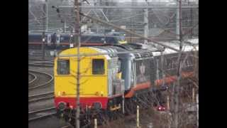Grand Central HST class 43 being shunted by a class 09 Heaton Depot
