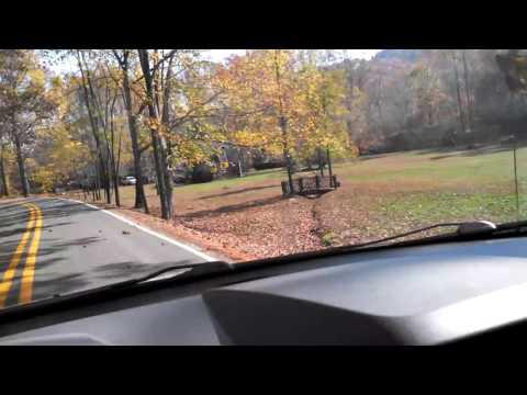 Autumn drive near LBJ Job Corps in Franklin, NC