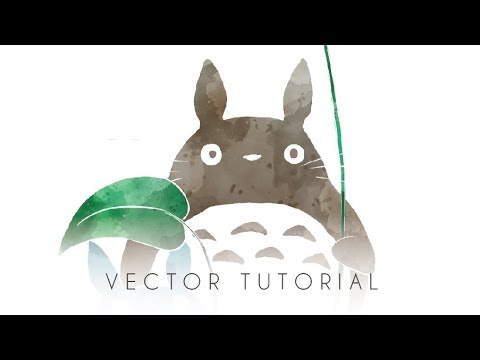 VECTOR TUTORIAL : HOW TO MAKE WATERCOLOR SILHOUETTE IN ADOBE ILLUSTRATOR thumbnail