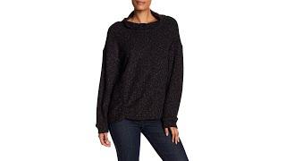 Funnel Neck Fleece Sweater