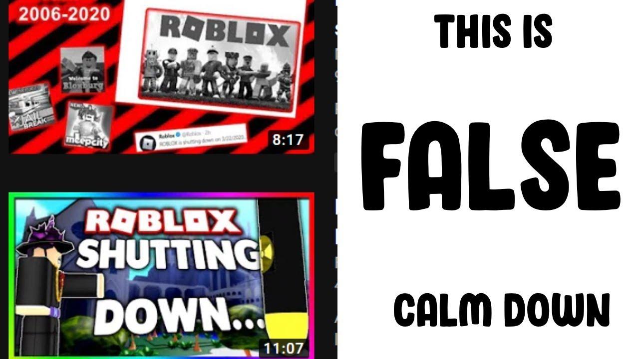 Roblox Isn T Gonna Shut Down On 3 22 2020 Youtube
