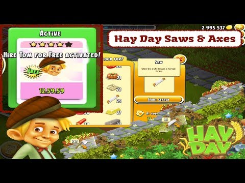how to get axes on hay day