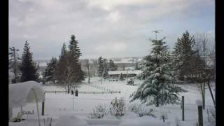1-17-12 Snow Storm In A 5½ Minute Time-lapse