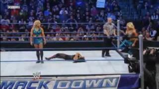Tamina & Aksana VS Beth Phoenix & Natalya - SmackDown 03.02.2012