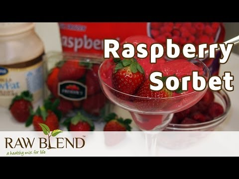 How to make raspberry sorbet with an ice cream maker
