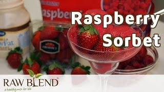 How To Make Ice Cream (raspberry Sorbet Recipe) In A Vitamix 5200 Blender By Raw Blend