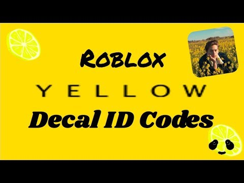 Roblox Aesthetic Yellow Decal ID Codes