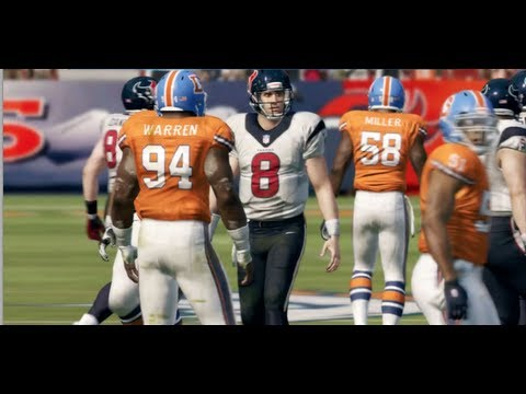 Matt Schaub Tries to Outduel Peyton Manning - Madden 13 Online Gameplay (Texans vs Broncos)