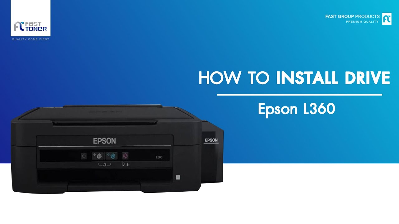 install epson l360 series driver