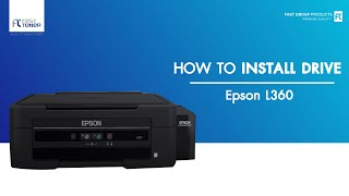 Gambar cover วิธีติดตั้ง Driver EPSON L360 แบบ download