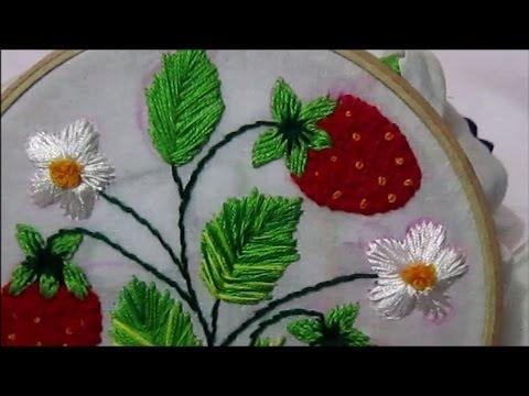 Strawberry Stitch Embroidery Design Youtube