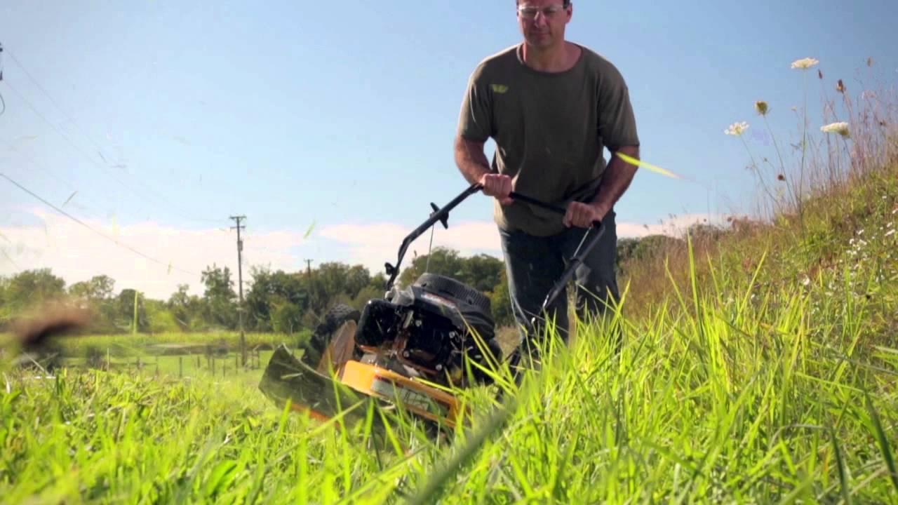 Cub Cadet Wheeled String Trimmer Youtube