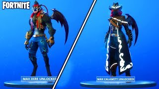 "HOW to UNLOCK MAX ""DIRE"" + ""CALAMITY"" FAST! - (Fortnite Battle Royale - EARN the MOST XP FAST!)"