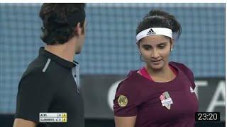 Roger Federer/Sania Mirza vs Bruno Soares/Daniela Hantuchova IPTL Delhi 2014 Full Match