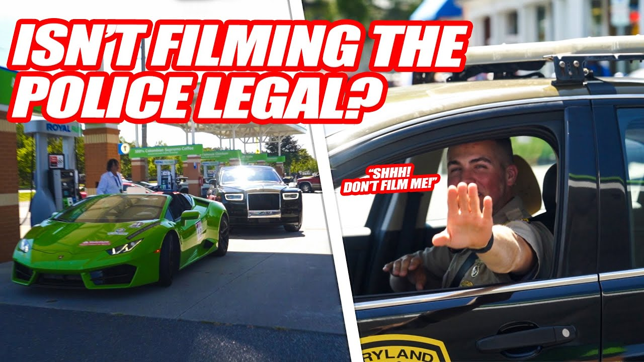 MARYLAND STATE POLICE AGREE TO HELP SUPERCAR RALLY AS LONG AS THEY AREN'T FILMED! *NO EXPLANATION*