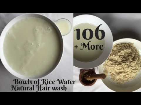 D.I.Y Brown Rice Water + Natural Hair Rinse
