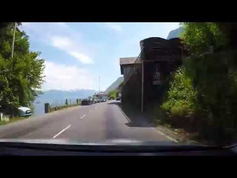 Driving in France : EVIAN-les-BAINS to ST-GINGOLPH