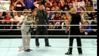 WWE Raw 3/28/11 - The Rock, John Cena Confrontation [The Miz Interrupts] - Part 2 of 2