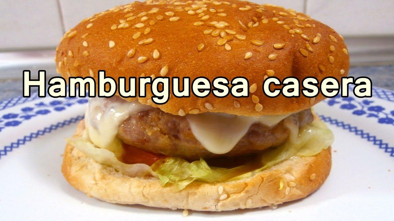 Hamburguesa casera facil recetas de cocina faciles for Comidas caseras faciles