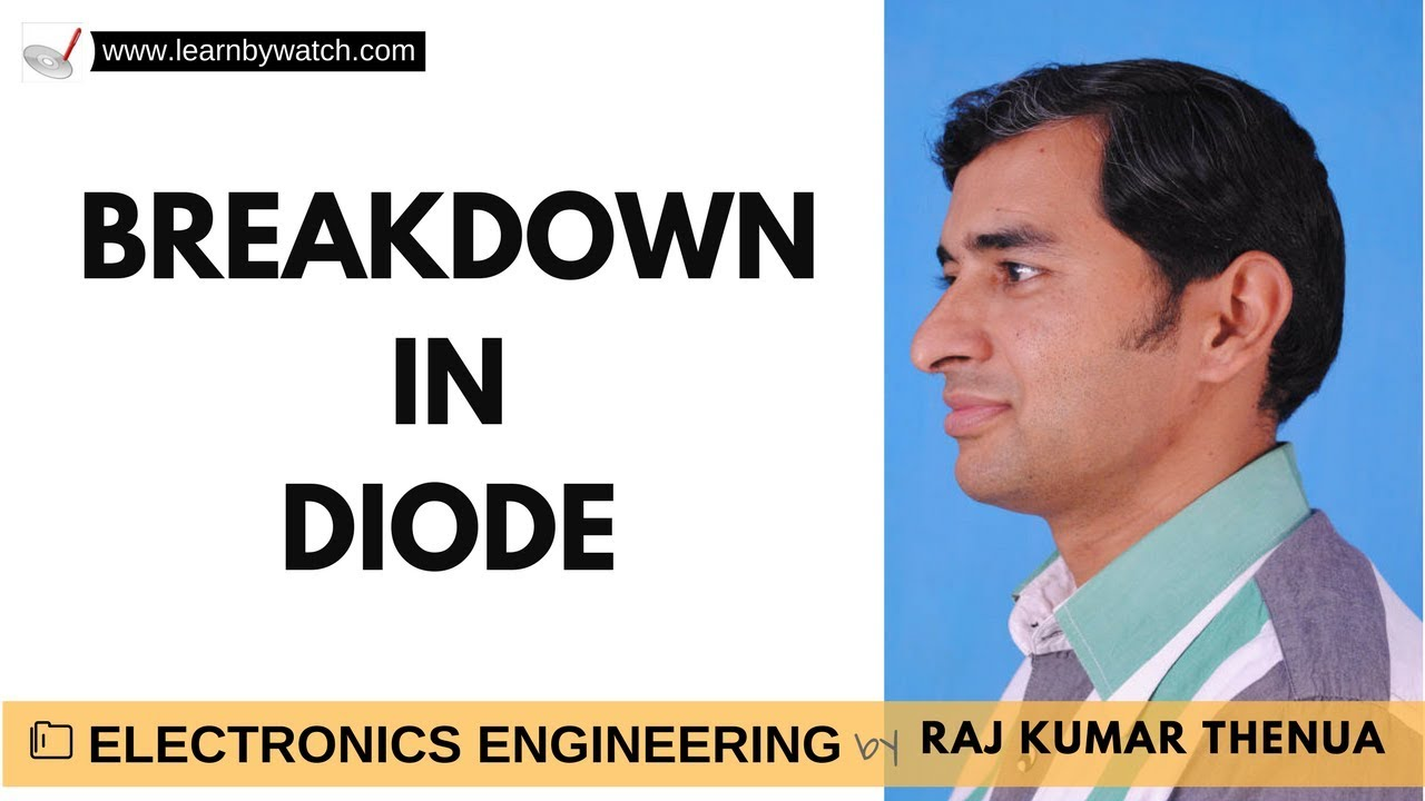 Avalanche And Zener Breakdown In Diode Hindi Urdu Electronics Phenomen Semiconductor Junction Engineering By Raj Kumar Thenua