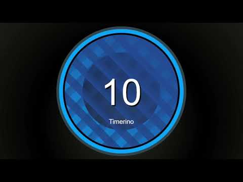 10 Second Timer No Music With Alarm (Circular Version)