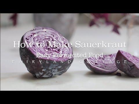 How to Make Sauerkraut - Easy Fermented Food - Healthy Gut