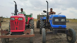 Mahindra 585 di tractor vs Sonalika DI 47 RX 50 hp with trolley | #comefromvillage