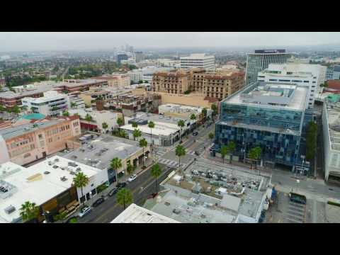 Los Angeles via Drone - Beverly Hills