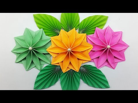 Repeat Easy Paper Flowers Diy Paper Flower Making For Wall Hanging