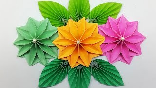 Easy Paper Flowers - DIY Paper Flower making for Wall Hanging