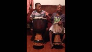 Boys African Drumming