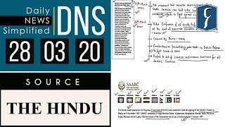 Daily News Simplified 28-03-20 (The Hindu Newspaper - Current Affairs - Analysis for UPSC/IAS Exam)