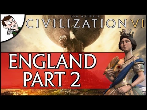BARBARIANS AT THE GATES! CIVILIZATION 6 - England Campaign - Part 2 (Preview Gameplay) - 동영상