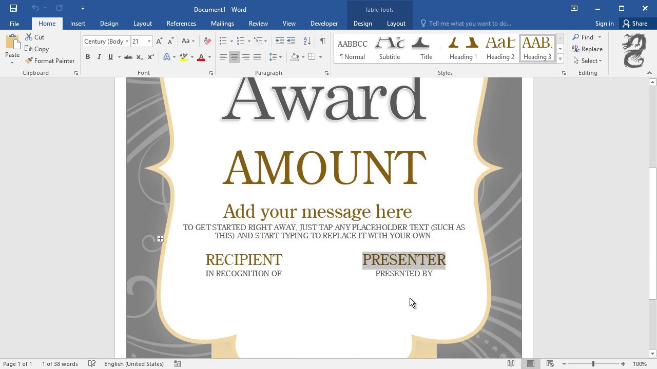 how to create gift certificates in word youtube