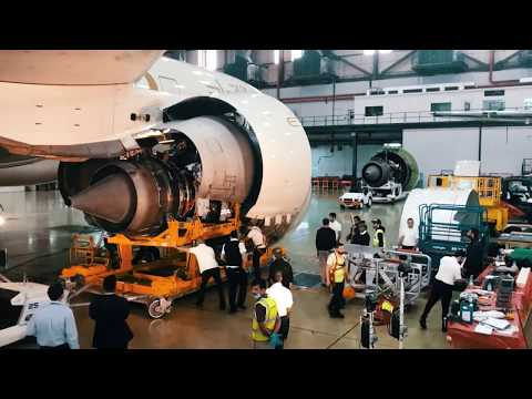 Breaking the World Record for Fastest Boeing 777 Engine Change - Etihad Airways Technical