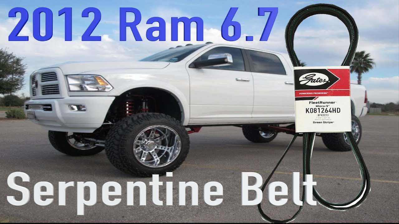 ram cummins 2500 6 7 serpentine belt replacement 4th gen [ 1280 x 720 Pixel ]
