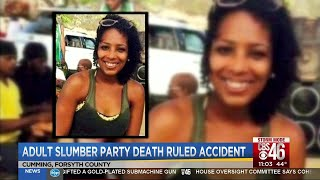 Adult slumber party death ruled an accident