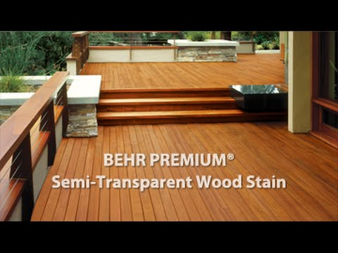 Behr Premium Semi Transpa Weatherproofing All In One Wood Stain Sealer You